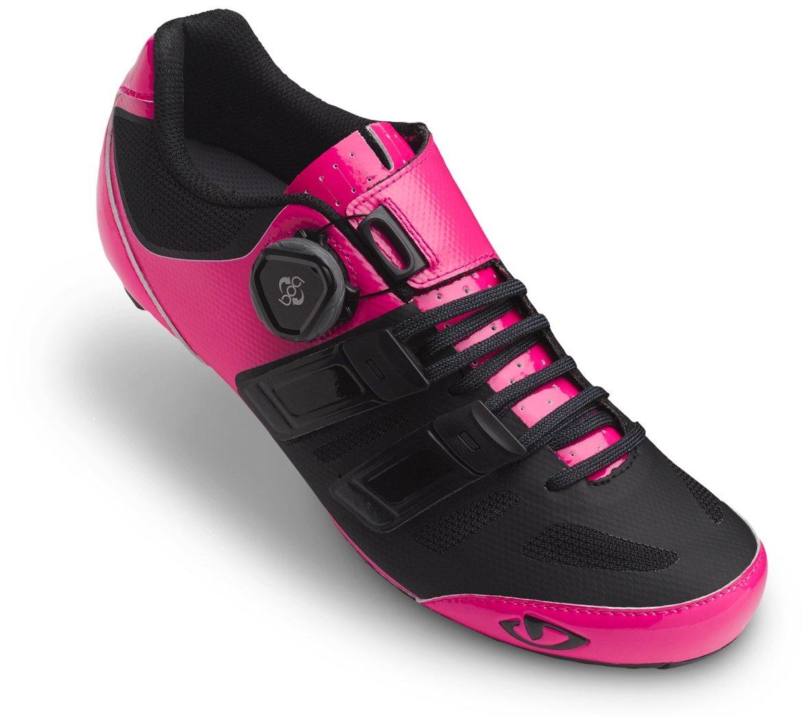 Giro Raes Techlace Cycling Shoe - Women's Bright Pink/Black 39 by Giro