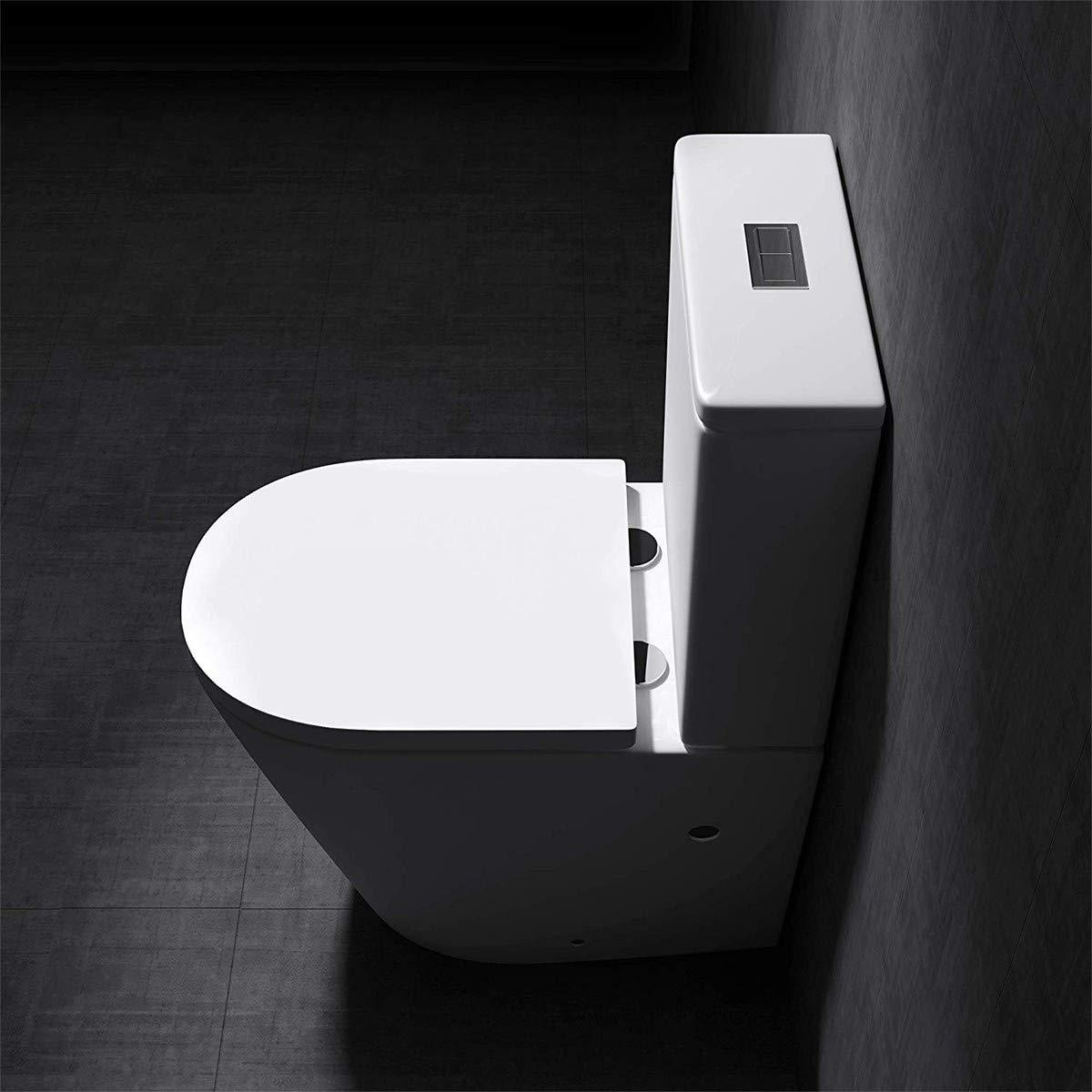 Gimify Abattant de WC D-Forme Lunette de Toilette avec Frein de Chute Syst/ème de Top-Fixation PP