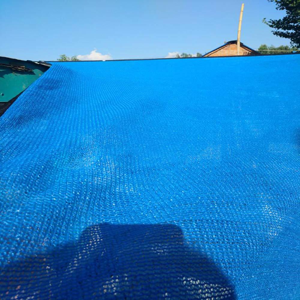 フルサイズブルーシェードセイル/ 85%シェード生地/ネットUV耐性オーニング防水シート/カバーガーデン植物温室納屋キャノピーパーゴラ B07TT3DNP1 blue 4x10m
