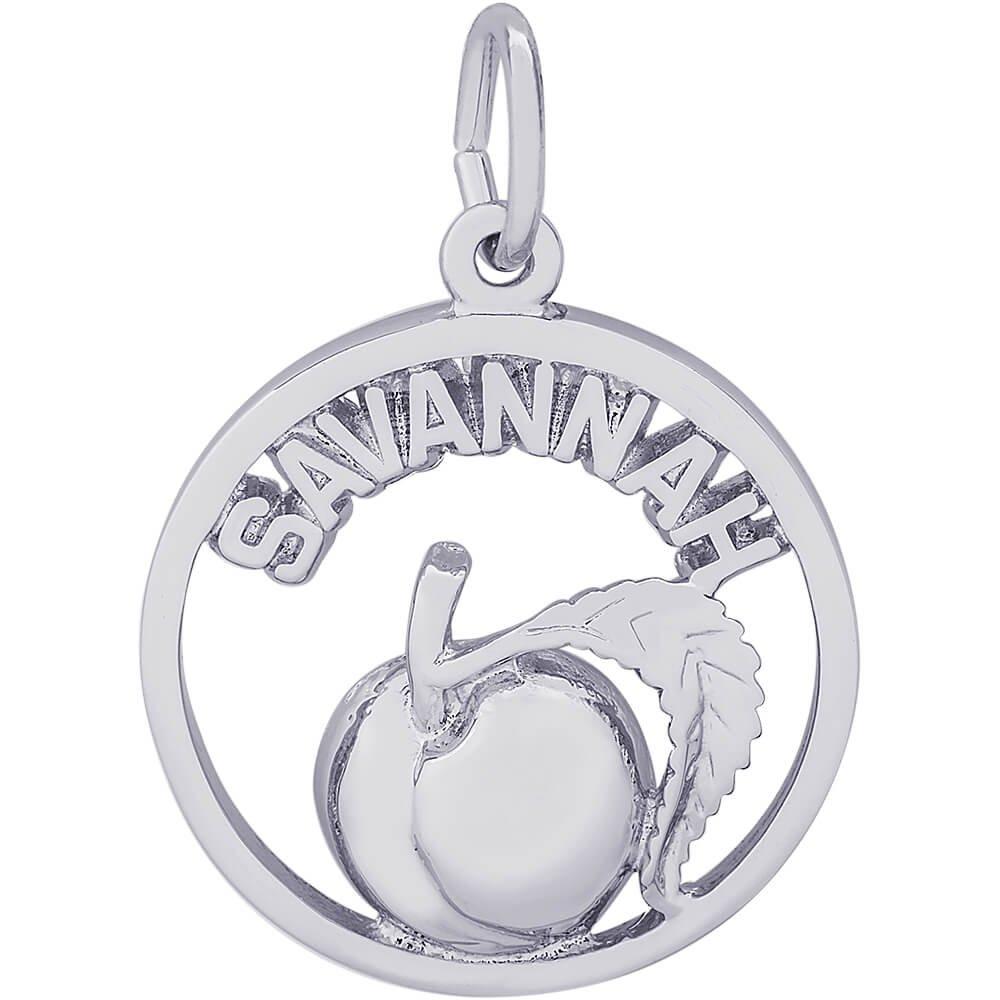 Rembrandt Charms Savannah Peach Charm, Sterling Silver