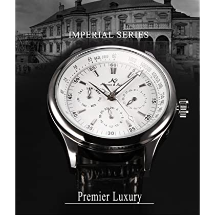 KS Classic White Dial Date Day 24 Hours Wrist Men Automatic Mechanical Watch KS096