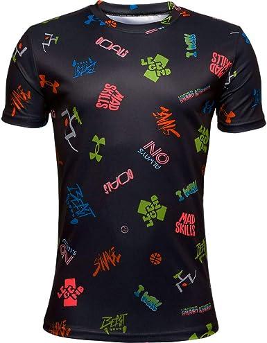Under Armour Boys Tech Verbiage AOP Short-Sleeve T-Shirt