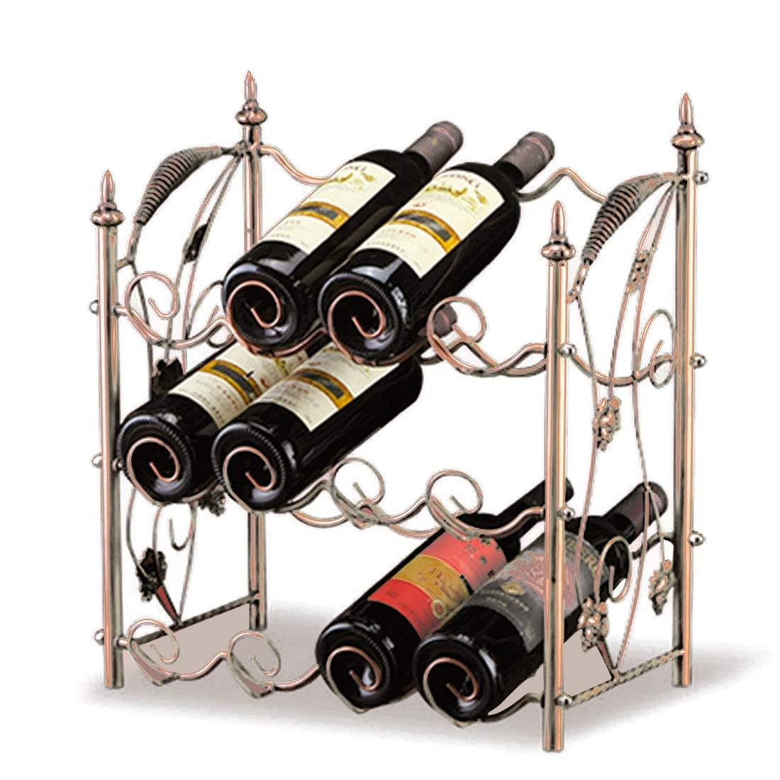 JESSIEKERVIN YY3 Casier à vin décoration casier à vin créatif rétro cave à vin suspendu (Color : Bronze)