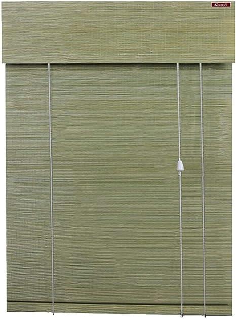 Persianas de Bambu Rollo De Bambú Natural De Color Verde A Ciegas con Cenefa - Inicio Salón De Té Prueba del Moho Pantalla Impermeable, 100 110 120 Cm De Largo (Color :