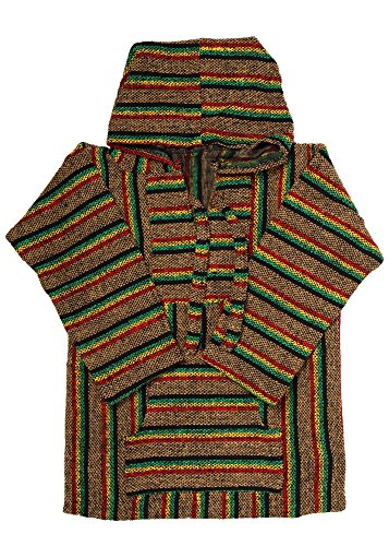 Mexican Style Hoodie Pullover Poncho