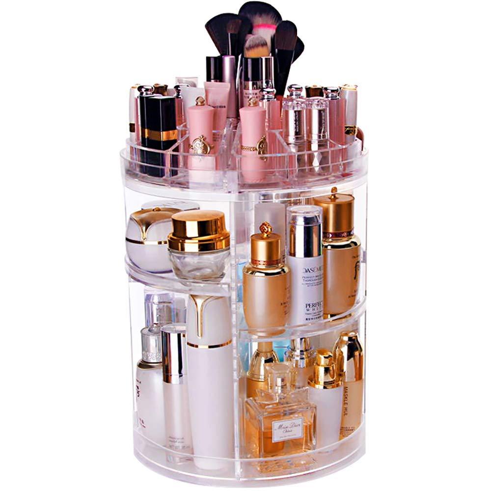 Transparent Acrylic Cosmetics Storage Box Rotating Lipstick