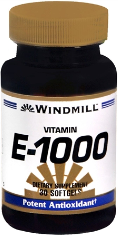 Windmill Vitamin E-1000 Softgels 30 Soft Gels (Pack of 9)