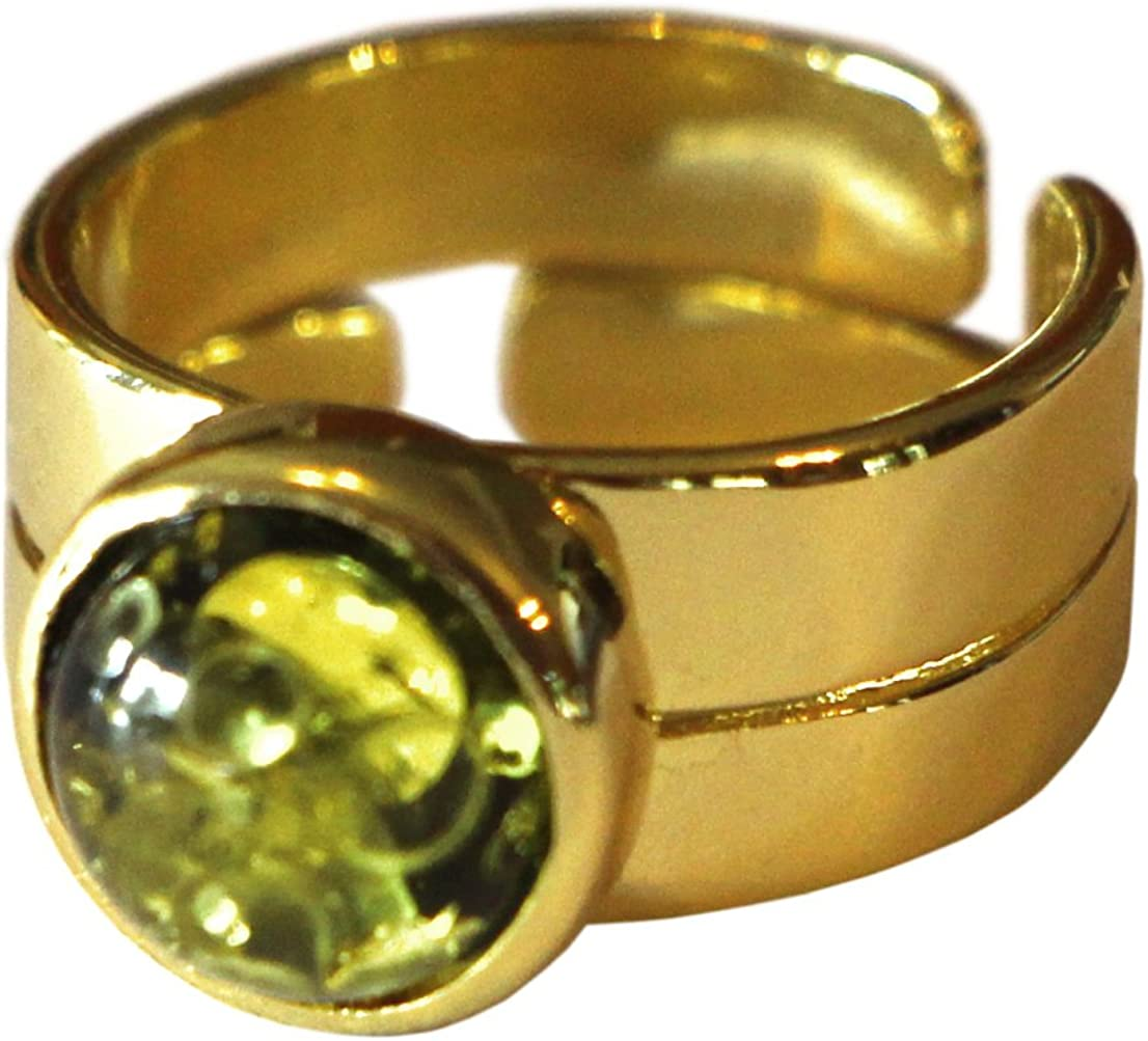 12th Doctor Who CAPALDI RING gold /& green baltic amber by Magnoli Clothiers