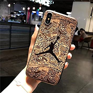 new arrival 1f8a6 e8569 New Air Jordan Case for iPhone X - BROWN: Amazon.co.uk: Electronics