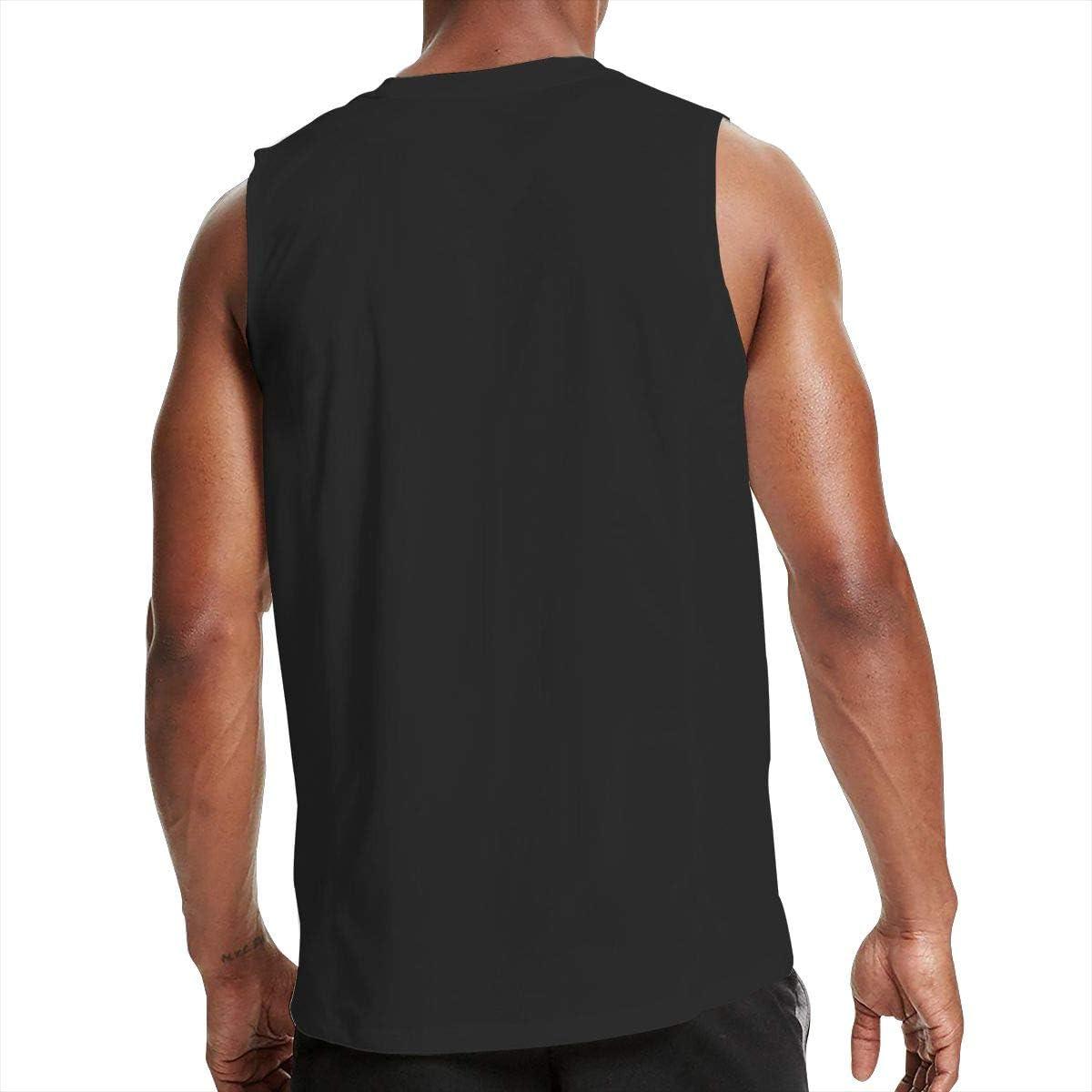 Nanakang Mike Tyson Boxing Mens Round Neck Summer Sport Tank Tops Sleeveless Shirt Casual Black