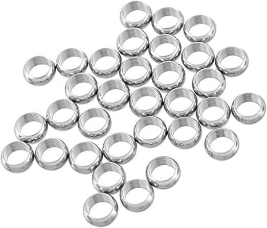 1730 4 Sterling Silver Decorative 9mm Beads With Large Hole
