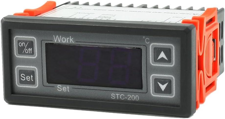 Iivverr 220vac Lcd Display Digital Thermostat Temperature Controller W Cable Pantalla Lcd De 220 Vca Termostato Digital Controlador De Temperatura Con Cable Amazon Com