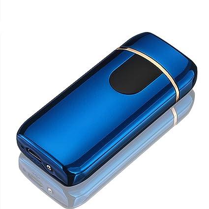 Yangers - Encendedor eléctrico de cigarrillos con doble arco y batería recargable por USB, resistente al viento, sin gas azul