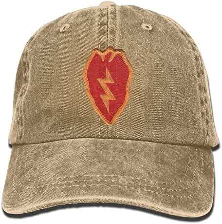 2b25ad1b0d3 25th Infantry Division Embroidery Denim Dad Cap Baseball Hat Adjustable Sun  Cap