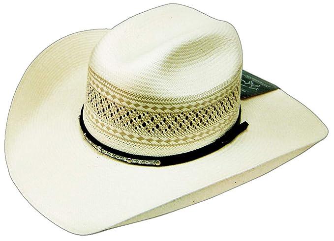 Modestone 100X Traditional Bangora Rodeo Straw Sombrero Vaquero 2-Tone  White  Amazon.es  Ropa y accesorios e44bfbe86b0
