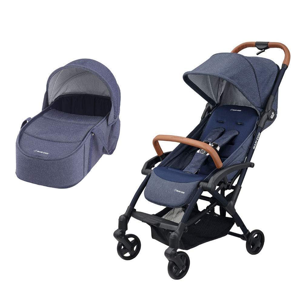 Easy Fold Sparkling Blue Ultra Compact and Lightweight Stroller from Birth Maxi Cosi Laika 2 Baby Pushchair 0-15 kg 0 Months-3.5 Years