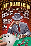 Poker Tournament - Vintage Sign (36x54 Giclee Gallery Print, Wall Decor Travel Poster)
