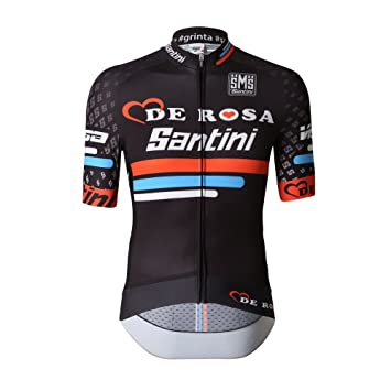 Santini Re947755Ds Team Original De Rosa Sleek Short Sleeve Jersey - Black 6db1cc5ca