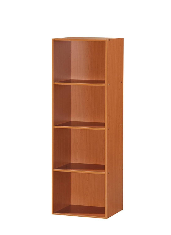 Hodedah 4 Shelve Bookcase, Black