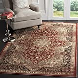 Safavieh Vintage Collection VTG574G Transitional Oriental Medallion Rust and Black Distressed Area Rug (5'1'' x 7'7'')