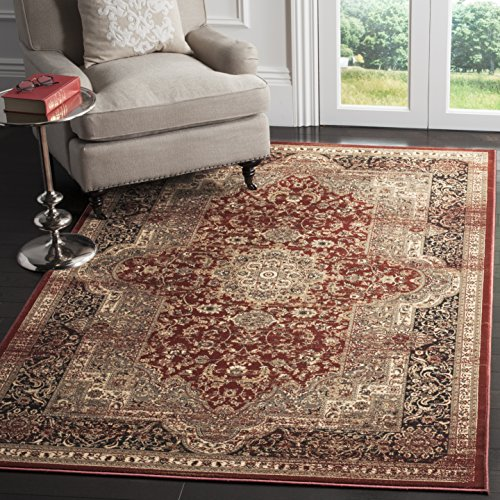 Safavieh Vintage Collection VTG574G Transitional Oriental Medallion Rust and Black Distressed Area Rug (5'1'' x 7'7'') by Safavieh