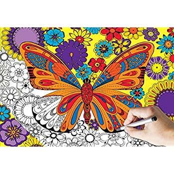 white mountain puzzles june butterfly coloring puzzle 300 piece