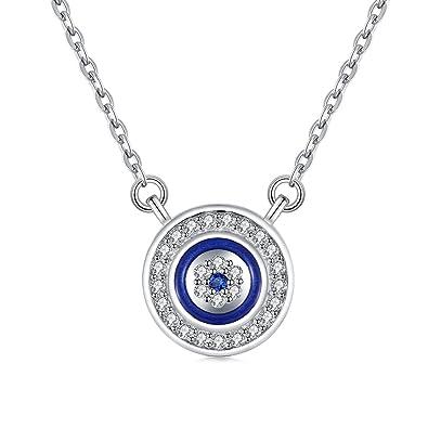 meilleures offres sur acheter pas cher magasiner pour véritable Collier avec pendentif en forme de mauvais œil bleu - en ...
