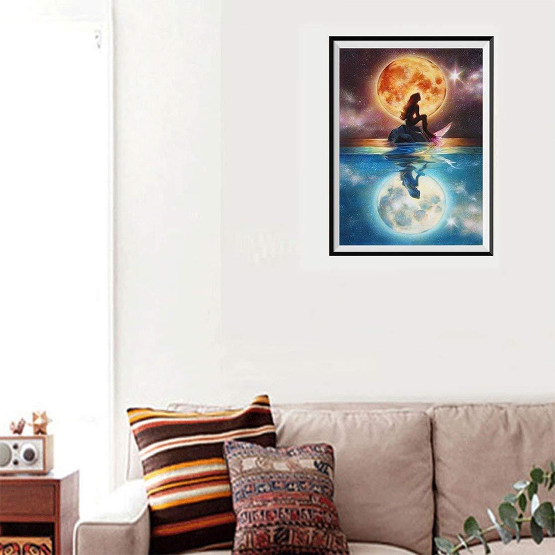 LouiseEvel215 Meerjungfrau Diamant Malerei Bunte Abstrakte Malerei Home Decoration Freunde und Familie
