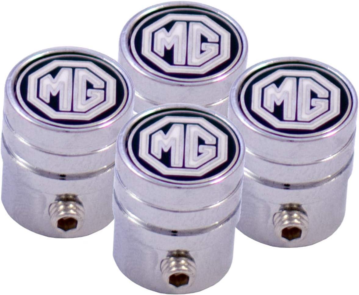 Auto Accessories Negro Tapones de v/álvula esmaltados compatibles con MG