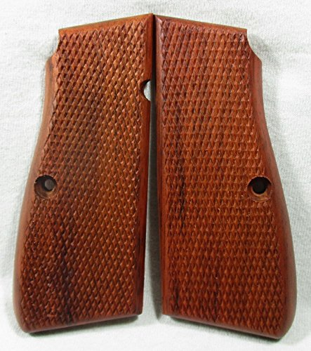 New wood checkered grips for Browning Hi-Power High Power