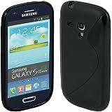 Schwarz S-Line Samsung Galaxy S3 mini i8190 Silikon hülle Bumper Cover tasche plt24