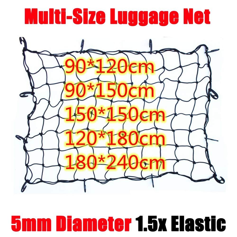 Flexible en Nylon arri/ère Cargo Organisateur de Coffre de Voiture de Stockage Net Noir pour la Plupart des Types de Voitures,90x120cm Zenshin Cargo Net
