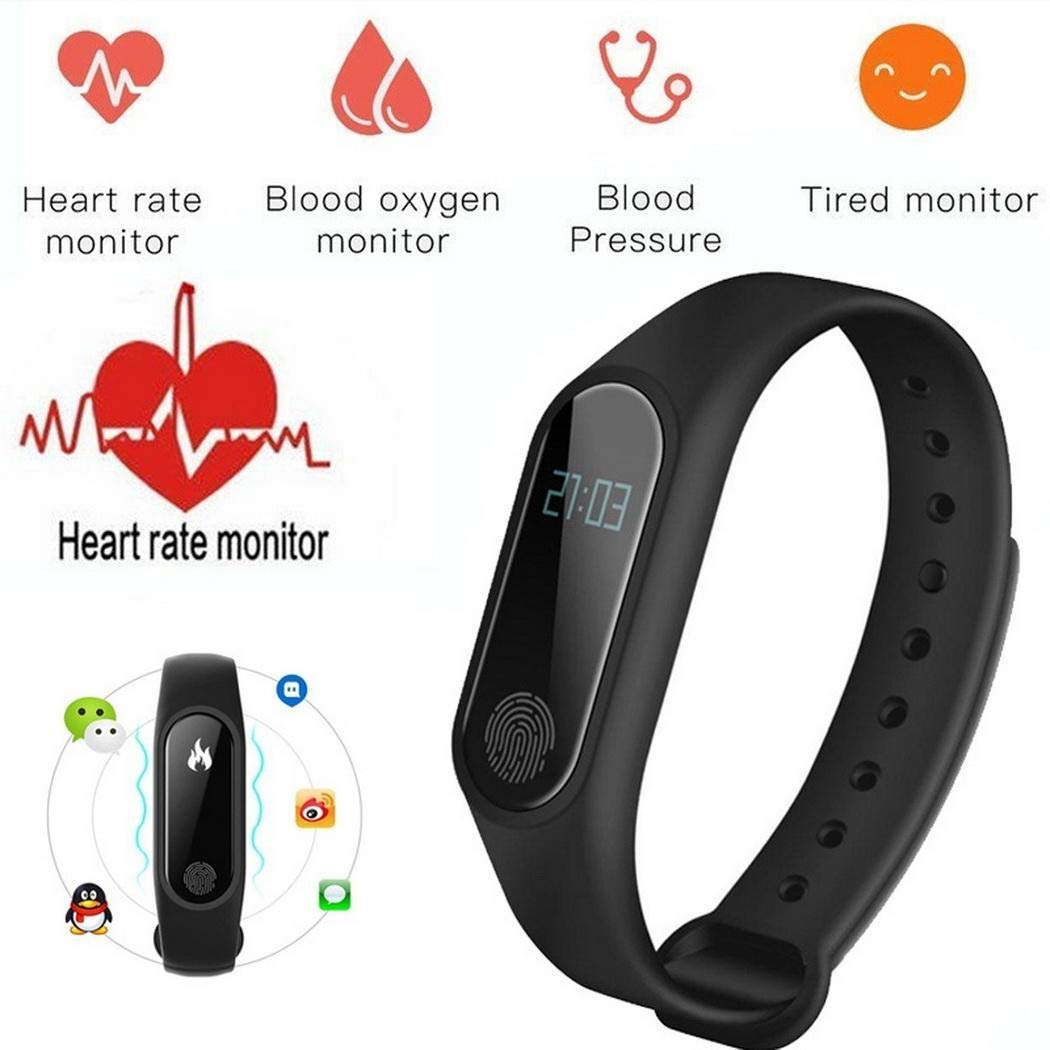 Goodfans 8 Colors Unisex M2 Waterproof Fitness Activity Tracker Smart Watch Intelligence Health Bracelet