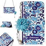 EVTECH Galaxy S8 Wallet Women Case, Cover Luxurious 3D Flower Leather Wallet Handgag Purse Magnetic Closure Flip Chain Carring Case Design Samsung Galaxy S8