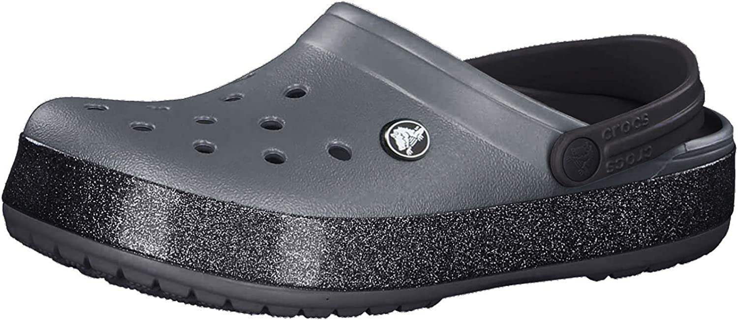 Crocs Men's and Women's Crocband Iridescent Band Clog   Slip On Water Shoes