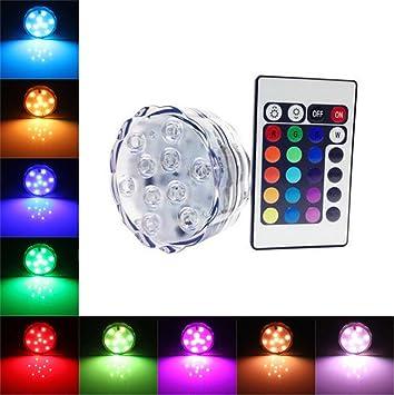 AMARS (TM) 10leds Wasserdicht LED Leuchten Mit Fernbedienung,  Ambient Lichterkette,