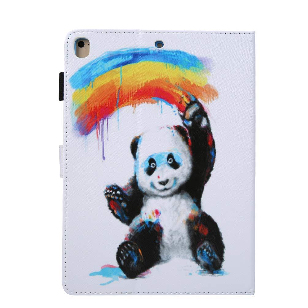 Panda De Bambou Coque iPad Air//iPad air 2// iPad//iPad pro Portefeuille Beaulife Flip Coque en Cuir PU Antichoc Fonction de Support Coque de Protection Etui Coque pour iPad 2018//2017// iPad Pro