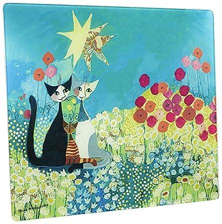Wenko 2712911500 Placa con Motivo Rosina Wachtmeister - para cocinas de vidriocerámica, Vidrio endurecido, 50 x 0.5 x 56 cm