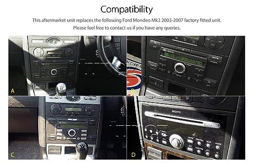 Tunez - Reproductor de Coche para Ford Mondeo Mk3 2003 y 2004 (USB, MP3, estéreo): Amazon.es: Coche y moto