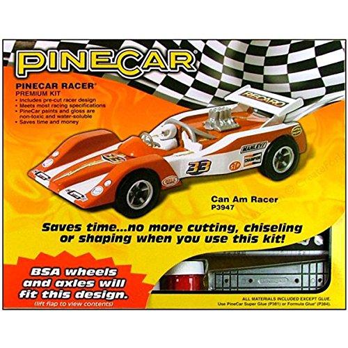 Racer Premium Racer (Woodland Scenics Pine Car Derby Racer Premium Kit, Can Am)