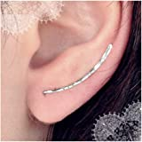 9ad6ef6b6 Ear Climber 2pc Earrings Long sterling Silver Climbers Crawler Bar Studs