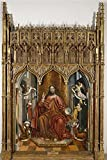 Polyster Canvas ,the Beautiful Art Decorative Prints On Canvas Of Oil Painting 'Gallego Fernando Christ's Blessing Before 1492 ', 20 X 30 Inch / 51 X 76 Cm Is Best For Bathroom Decoration And Home Artwork And Gifts