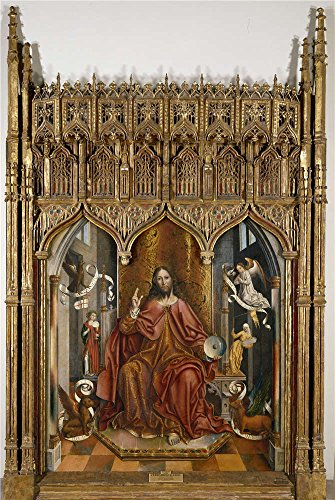 High Quality Polyster Canvas ,the High Quality Art Decorative Canvas Prints Of Oil Painting 'Gallego Fernando Christ's Blessing Before 1492 ', 30 X 45 Inch / 76 X 114 Cm Is Best For Laundry Room Decoration And Home Artwork And Gifts