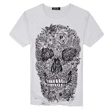 waotier Camiseta De Cuello Redondo con Estampado Digital De Hombre ...