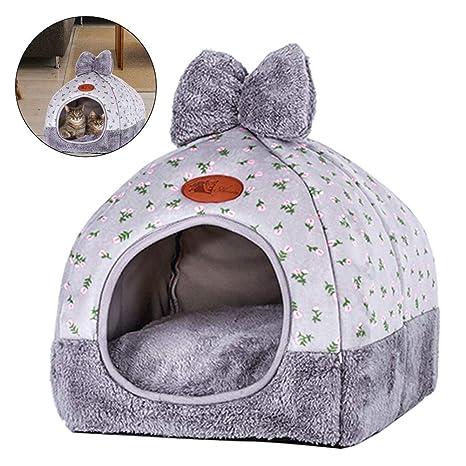 EisEyen Mascota Saco de Dormir Caseta Gato Cueva Perro Gato Casa Manta Cama Gato Cueva Plegable