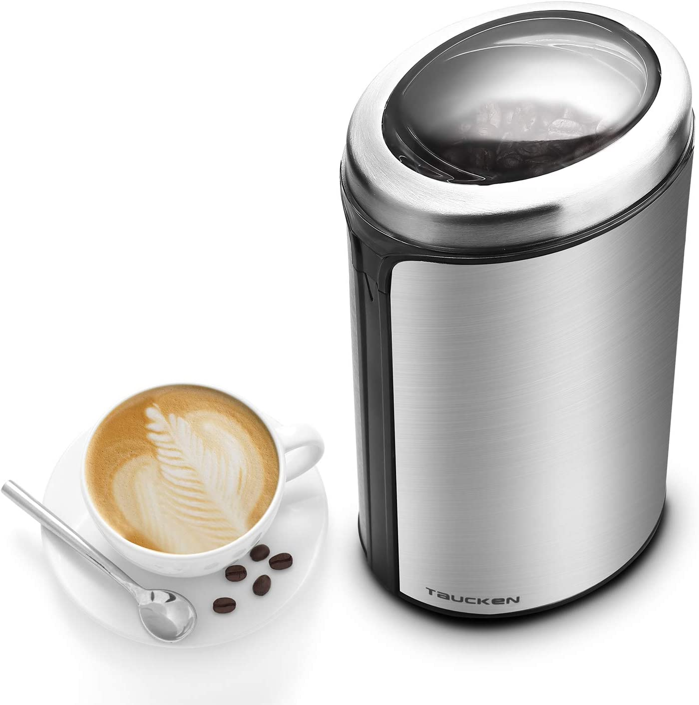 Coffee Grinder – Taucken Ultimate Electric Coffee Grinder, Coffee Bean Grinder Stainless Steel Blade Coffee Grinding Coffee Beans. Durable Portable Stainless Steel Blades Grinder