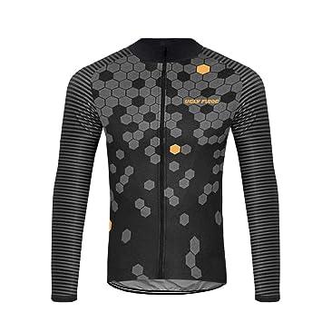 Amazon.com: Uglyfrog Ropa Hombre Termodream Ciclismo Jersey ...