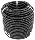 #4: GS Power's 100 Feet, 1/4 inch diameter Split Loom Tubing - Polyethylene High Temperature Electrical Wire / Cable Conduit