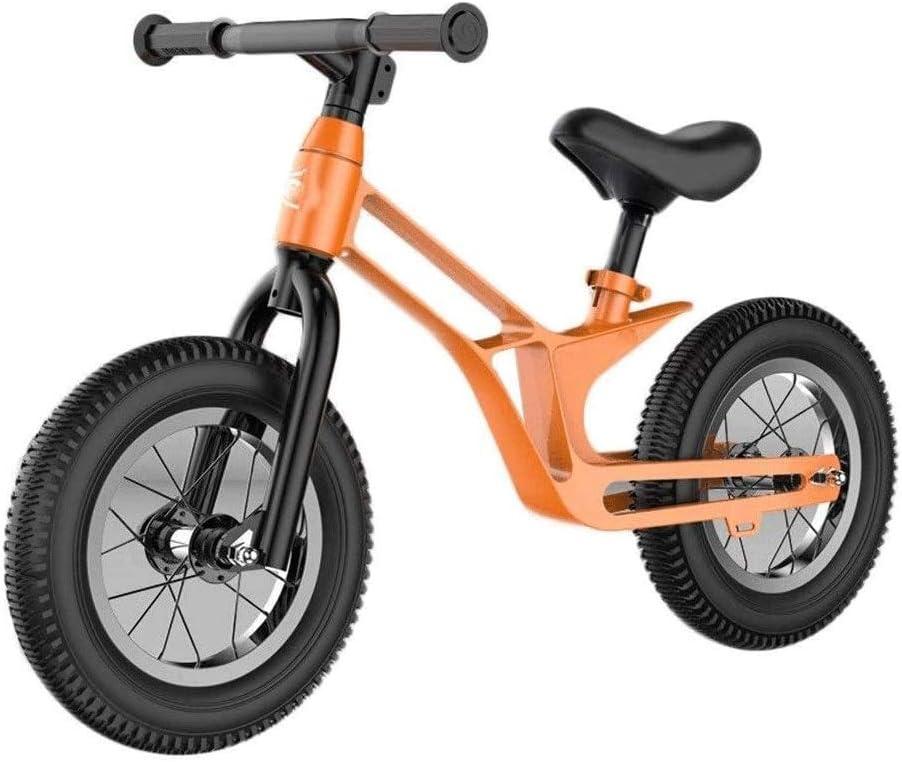 ZQY Niños Bicicleta de Equilibrio, sin Pedal de bebé Mini Bike Riding bebé de Juguete de niños Walker Walking compinche Bicicleta for bebé Muchacho niño Interior Actividades al Aire Libre 3-6 años