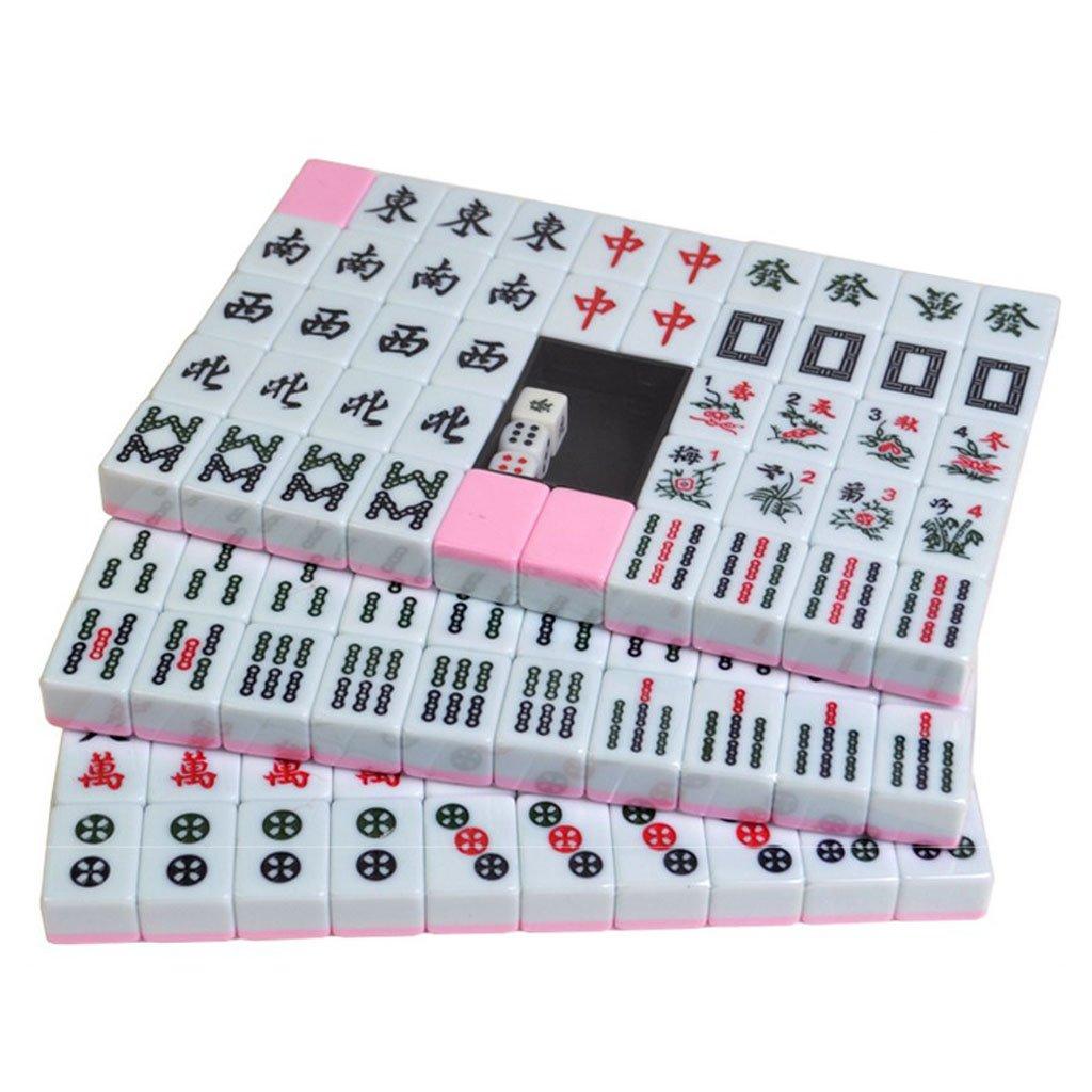 LI JING SHOP - Mano casera que frota mini pequeño mahjong, sitio del dormitorio pequeño la compañía consigue el juguete del juego de tablero, tamaño: 2.2  1.4  3.0CM